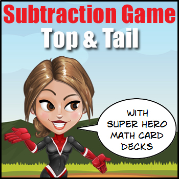 'SUBTRACTION GAME' - Top or Tail - A Fun Way to Practice S