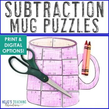 SUBTRACTION Hot Chocolate Mug Math | FUN Polar Express Math Games | Hot Cocoa