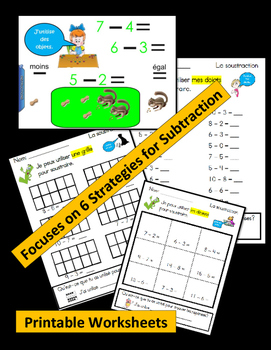 SUBTRACTION: Interactive Lessons, Anchor Charts, Problem Solving, Worksheets