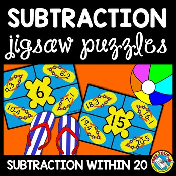 SUBTRACTION ACTIVITIES: SUMMER THEME SUBTRACTION PUZZLES: