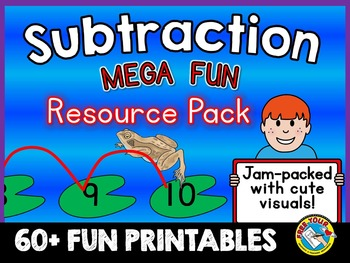 SUBTRACTION PRINTABLES: SUBTRACT WITHIN 10 & 20 (SUBTRACTION WORKSHEETS)