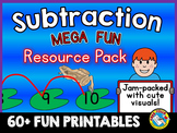 SUBTRACTION WORKSHEETS KINDERGARTEN: SUBTRACT WITHIN 10 & 20