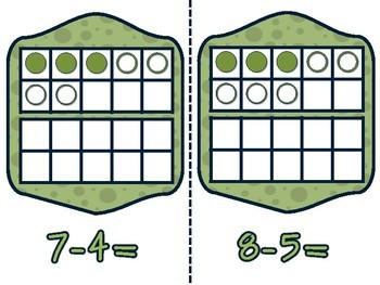 SUBTRACTION NEAR HALVES STRATEGY CARDS