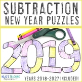 SUBTRACTION Math Game or Center | FUN New Years Activities 2019