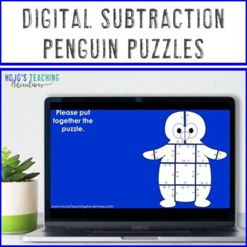 SUBTRACTION Penguin Activities   FUN Winter Math Centers, Games, or Craftivity