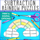 SUBTRACTION Rainbow Activities | Rainbow Math Centers | Spring Activities