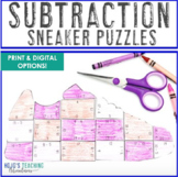 SUBTRACTION Sneaker Math Puzzles | Sports Theme Classroom