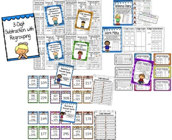 SUBTRACTION WITH REGROUPING BUNDLE 2-Digit & 3-Digit!