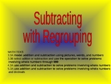 SUBTRACTION WITH REGROUPING Powerpoint, No Narration