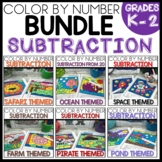 SUBTRACTION WITHIN 20 COLOR BY NUMBER BUNDLE  Themed Resources