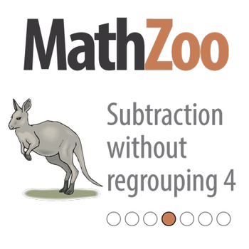 SUBTRACTION WITHOUT REGROUPING 4: Layout 2 digit subtraction and solve