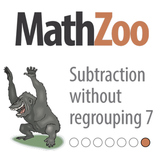 SUBTRACTION WITHOUT REGROUPING 7: Fill in the gaps in the