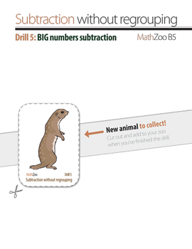 SUBTRACTION WITHOUT REGROUPING V: Big(!) numbers (billions!) subtraction