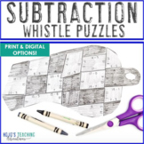 SUBTRACTION Whistle Math Puzzles | FUN Sports Math Centers