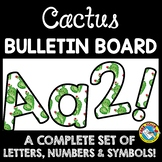 SUCCULENT CLASSROOM DECOR CACTUS BULLETIN BOARD LETTERS PRINTABLE, NUMBERS, ETC