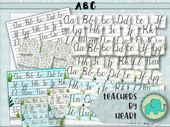 SUCCULENT THEME decor ABC Posters