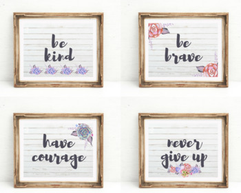 SUCCULENT WALL ART | Inspirational Quotes | Classroom Art