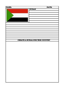 SUDAN  Summary Writing and Mural Assignment