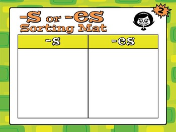 SUFFIXES -S AND -ES Workstation