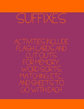 SUFFIXES, SUFFIXES, SUFFIXES
