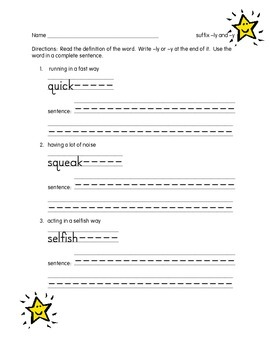 SUFFIXES- ly and y