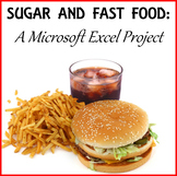 SUGAR AND FAST FOOD: A MICROSOFT EXCEL PROJECT