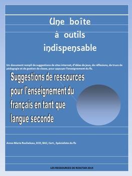 SUGGESTIONS DE RESSOURCES POUR LE FLS 2015