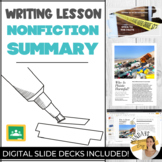 SUMMARIZING NONFICTION TEXTS Distance Learning Lesson and