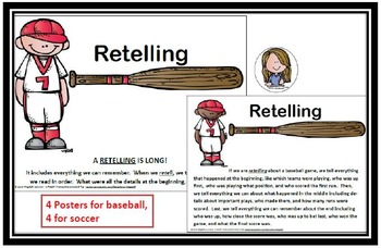 RETELL OR SUMMARY? POSTERS, ACTIONS, CHANTS & TIPS, Success on DIBELS NEXT!