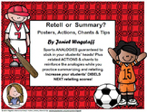 RETELL OR SUMMARY? POSTERS, ACTIONS, CHANTS & TIPS, Succes