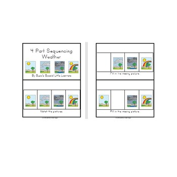 SUMMER 4 PART SEQUENCING FOR AUTISM AND SPECIAL EDUCATION