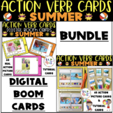 SUMMER ACTION VERB CARDS (REAL PICTURES) BUNDLE, BOOM CARD
