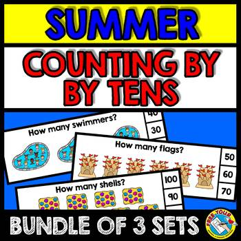 SUMMER ACTIVITIES (SKIP COUNTING CLIP CARDS BUNDLE) COUNTING BY 2S, 5S AND 10S