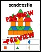 SUMMER ACTIVITY 1ST GRADE (KINDERGARTEN PATTERN BLOCKS PUZZLES) JUNE MATH