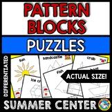 SUMMER ACTIVITY 1ST GRADE (KINDERGARTEN PATTERN BLOCKS PUZ