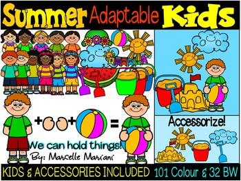 SUMMER KIDS CLIPART-SUMMER CLIP ART