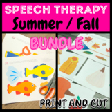 SUMMER AND FALL BUNDLE | Themed Pictures for SLP / Virtual
