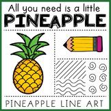 SUMMER ART: Pineapple: Elements of Art: Lines