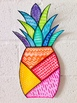 SUMMER ART: Pineapple: Elements of Art: Lines
