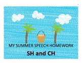 SUMMER ARTICULATION CALENDAR SH and CH