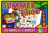 SUMMER BINGO GAME WITH PICTURES (END OF YEAR ACTIVITIES) S