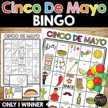 CINCO DE MAYO BINGO Game Activity {25 Different Bingo Cards}