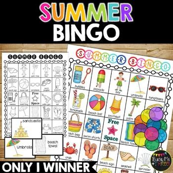 SUMMER BINGO Game {25 Different Bingo Cards}