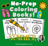 SUMMER Basic Concepts Coloring Books: NO PREP!