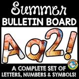 SUMMER CLASSROOM DECORATION (ICE CREAM BULLETIN BOARD LETT