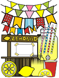 SUMMER CLIP ART * LEMONADE CLIP ART * COLOR AND BLACK AND WHITE