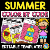 SUMMER COLORING PAGE MATH AND LITERACY (END OF THE YEAR ACTIVITY KINDERGARTEN)
