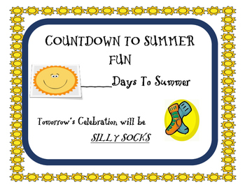 End of Year SUMMER COUNTDOWN POSTER PACK