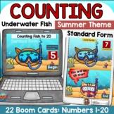 Summer Math Digital Activity Kindergarten Cardinal Numbers