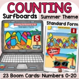 Summer Counting Surfboards Activity   Cardinal Numbers   B